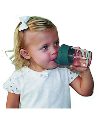 Label Label Universal Sippy Cap, Set of 2 - Petrol Sippy Cups
