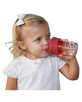Label Label Universal Sippy Cap, Set of 2 - Pink Sippy Cups