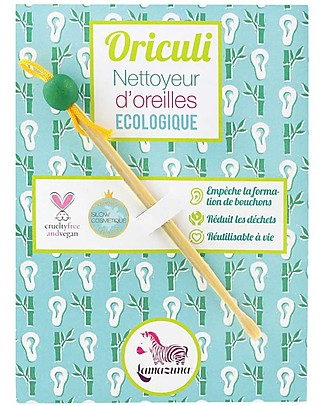 Lamazuna Oriculi, Reusable and Eco Ears Cleaner - 100% Bamboo Kit Toilette Baby