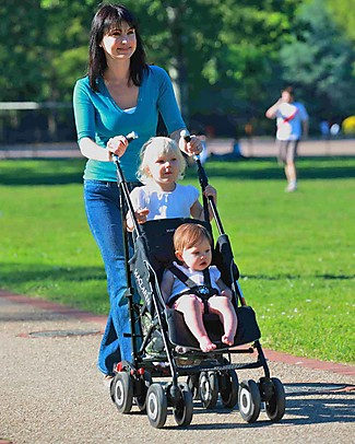 Lascal Buggy Board Mini, Red - Universal and easy to attach! Stroller Accessories
