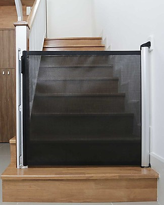 Lascal Kiddiguard Accent Safety Gate, 100 cm - Black - Invisible closing with automatic locking mechanism Safety Gates