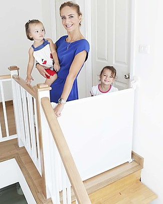 Lascal Kiddiguard Assure Safety Gate, 100 cm - White - Invisible closing with automatic locking mechanism Safety Gates