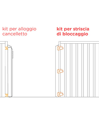 Lascal Kiddiguard Avant Bannister Installation Kit, Locking Strip - Black Stroller Accessories