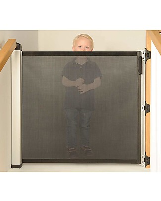 Lascal Kiddiguard Avant Safety Gate, 120 cm - Black - Invisible closing with automatic locking mechanism Safety Gates