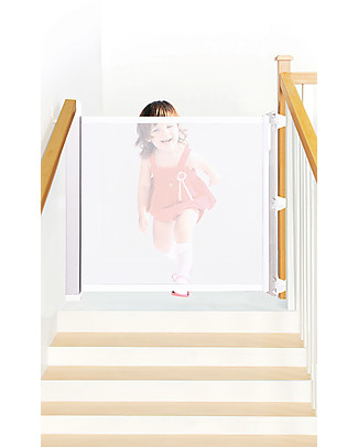 Lascal Kiddiguard Avant Safety Gate, 120 cm - White - Invisible closing with automatic locking mechanism Safety Gates
