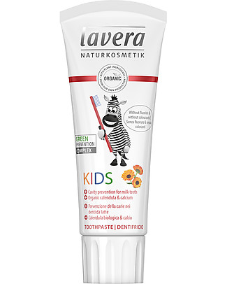 Lavera Bio Toothpaste Kids - Organic Calendula and calcium 75 ml Toothpaste and Toothbrush