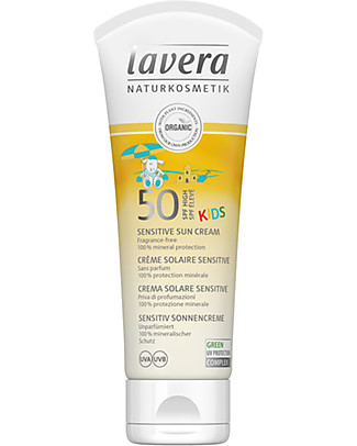 Lavera Kids Sun Cream High Protection UPF 50, 75 ml - For sensitive skin Sun Screen
