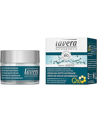 Lavera Organic Anti-Ageing Night Cream Q10, Basis Sensitiv - 50 ml Body Lotions And Oils