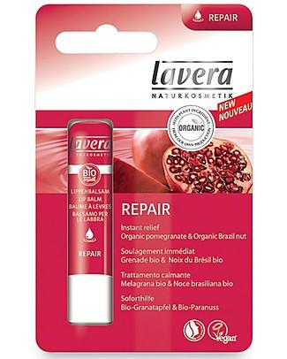 Lavera Organic Lip Balm, Repair - Pomegranate and Brazil Nut Oil Face