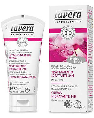 Lavera Organic Ultra-Hydrating Cream - Wild Rose and Macadamia Nut - 50 ml Body Lotions And Oils