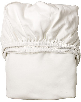 Leander Jersey Fitted Sheet, White - For Leander Baby Bed, 100% cotton Bed Sheets