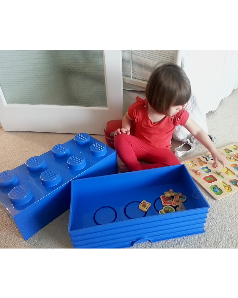 Lego LEGO 8 Stud Yellow Storage Brick! Toy Storage Boxes
