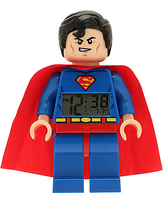 Lego LEGO DC Super Heroes Superman Minifigure Light Up Alarm Clock  Alarm Clocks