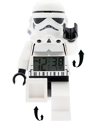 Lego LEGO Star Wars Storm Trooper Minifigure Light Up Alarm Clock  Alarm Clocks