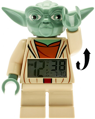 Lego LEGO Star Wars Yoda Minifigure Light Up Alarm Clock  Alarm Clocks