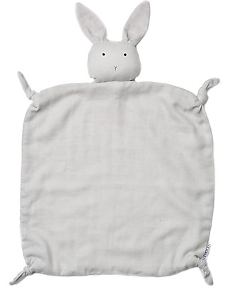 Liewood Agnete Cuddle Cloth, Rabbit Grey - 100% Organic Cotton Doudou & Comforters