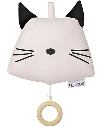 Liewood Alma Music Mobile, Cat - 100% Organic Cotton Musical Instruments