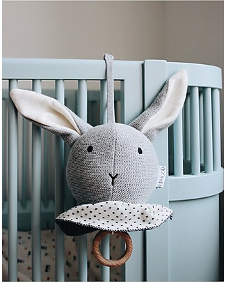 Liewood Angela Music Mobile, Rabbit - 100% Organic Cotton Teethers
