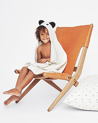 Liewood Augusta Hooded Towel, Panda - Creme de la Creme Towels And Flannels