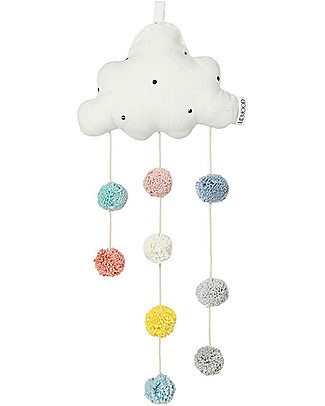 Liewood Clara Hanging Cloud, Creme - 100% Organic Cotton Room Decorations
