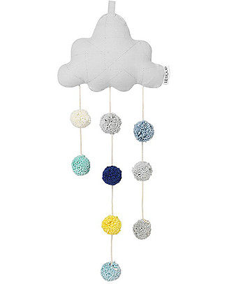 Liewood Clara Hanging Cloud, Grey - 100% Organic Cotton Room Decorations