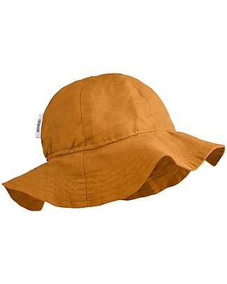 Liewood Dorrit Sun Hat, Organic Linen and Cotton - Mustard Sunhats