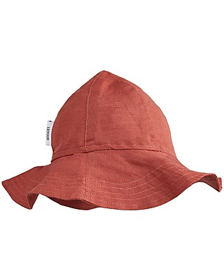Liewood Dorrit Sun Hat, Organic Linen and Cotton - Rusty Sunhats