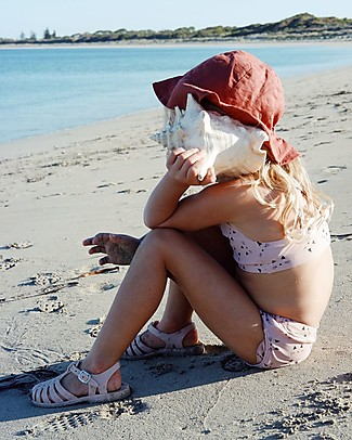 Liewood Dorrit Sun Hat, Organic Linen and Cotton - Rusty Sunhats