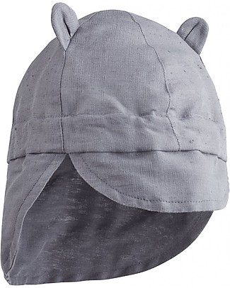 Liewood Eric Sun Hat, Organic Linen - Dumbo Grey Sunhats