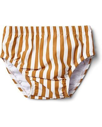 Liewood Frej Baby Boy Swim Pants, Mustard & Creme de la Creme Stripes  Swim Diaper