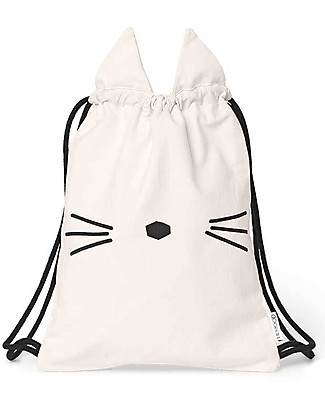 Liewood Gert Gym Bag, Cat Sweet Rose - 100% Organic Cotton Small Backpacks