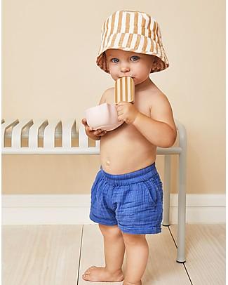 Liewood Jack Bucket Hat, 100% organic cotton - Mustard & Creme de la Creme Stripes Sunhats