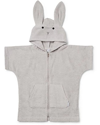 Liewood Lela Cape Rabbit, Dumbo Grey - 100% Organic Cotton Towels And Flannels