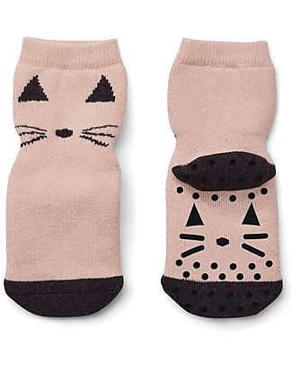 Liewood Nellie Antislip Socks, Cat Rose - Elasticated cotton Socks