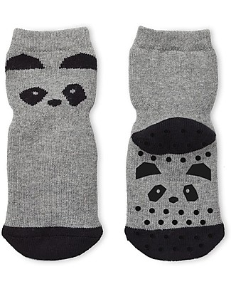 Liewood Nellie Antislip Socks, Panda Grey Melange - Elasticated cotton Socks