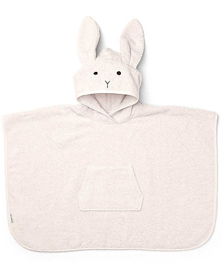 Liewood Orla Poncho Bathrobe, Bunny Sweet Rose - 100% Organic Cotton Terry Towels And Flannels