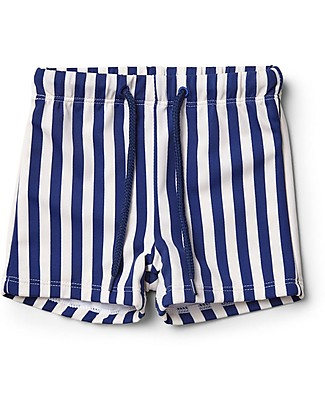 Liewood Otto Swim Pants, Navy & Creme de la Creme Stripes - UPF 50+ Swimming Trunks