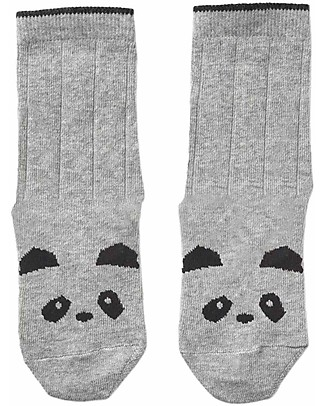 Liewood Silas Socks, Panda Grey - Elasticated Cotton Socks