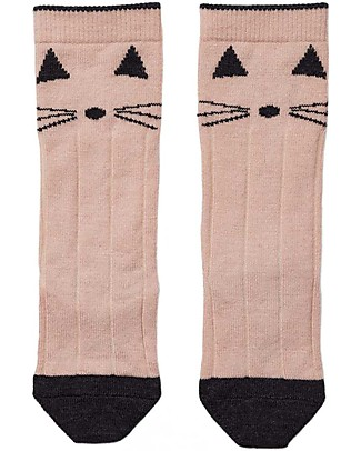 Liewood Sofia Socks, Cat Rose - Wool and Cotton Socks