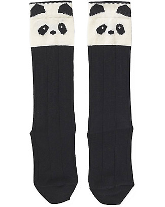 Liewood Sofia Socks, Panda Black & White - Elasticated Cotton Socks
