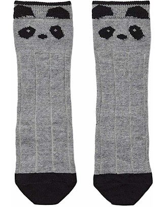 Liewood Sofia Socks, Panda Black & White - Wool and Cotton Socks