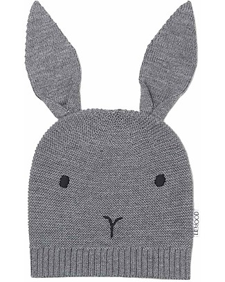 Liewood Viggo Knit Hat, Merino Wool - Rabbit Grey Melange Winter Hats