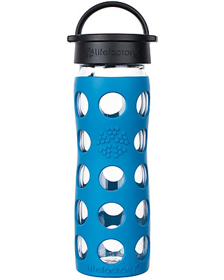Lifefactory Core Glass Bottle 475 ml Silicone Sleeve, Teal Lake Glass Bottles