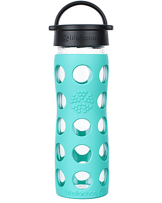 Lifefactory Core Glass Bottle 475 ml with Silicone Sleeve, Sea Green Glass Bottles