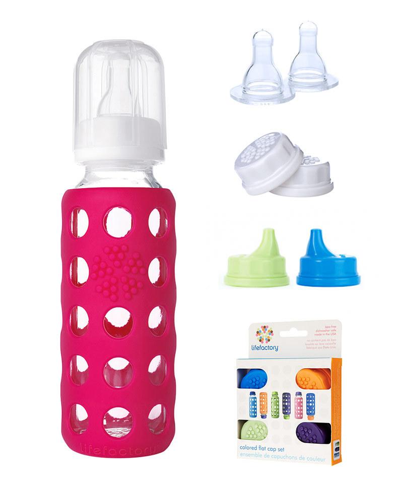 Glass Milk Bottle Buy 1 Get Free Mam Anti Colic Blue
