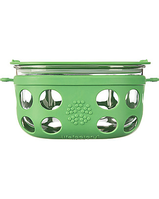 Lifefactory Heat Resistant Glass Food Container 950ml - Green null
