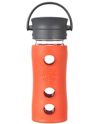 Lifefactory Insulated Glass Bottle - Mug To Go with Keep Warm Insulating Sleeve - 350 ml – Lava Thermos