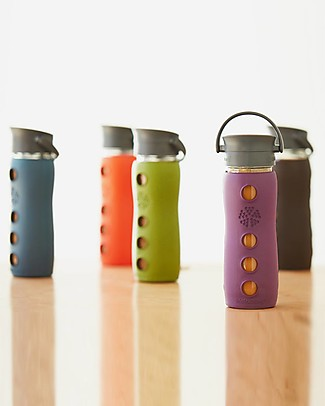 Lifefactory Insulated Glass Bottle - Mug To Go with Keep Warm Insulating Sleeve - 475 ml / 16oz – Expresso Glass Bottles