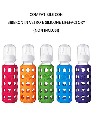 Lifefactory Sippy Cap Set of 2 - Raspberry (for LifeFactory bottles) Glass Baby Bottles