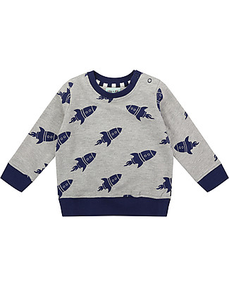 Lilly+Sid Baby Sweatshirt, Rockets - 100% organic Cotton Sweatshirts